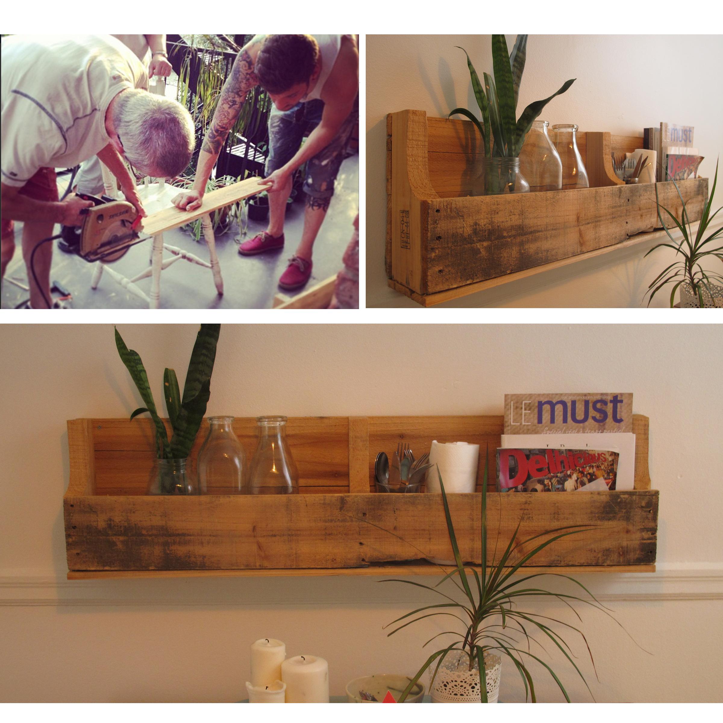 La tablette en palette le rangement parfaiiiit pour vos for Quoi faire avec une palette en bois
