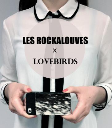 Les rockalouves, lovebirds, iphone, cases, étui,