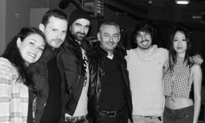 De gauche à droite : Chloé (chant), Pierrick (basse), Jérémie (guitare), Franck (label GDW), Antoane (Batterie) et Catherine (chant). ©GDW