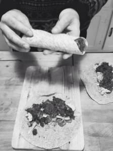 Burrito matin-Recette tirée du livre Trois Fois Par Jour.