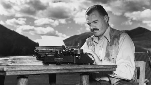Ernest Hemingway, source inconnue