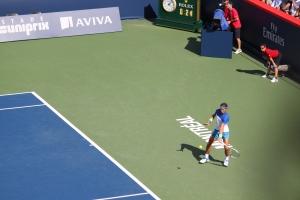 Le numéro 8 mondial Rafael Nadal durant son match de deuxième tour. Photo Anne-Sophie Gobeil
