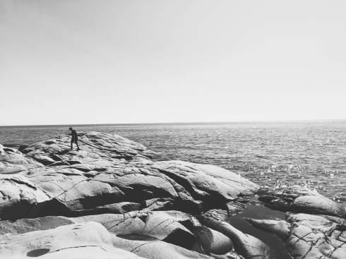 le bonheur de courir les rochers. Plus le sien que le mien.