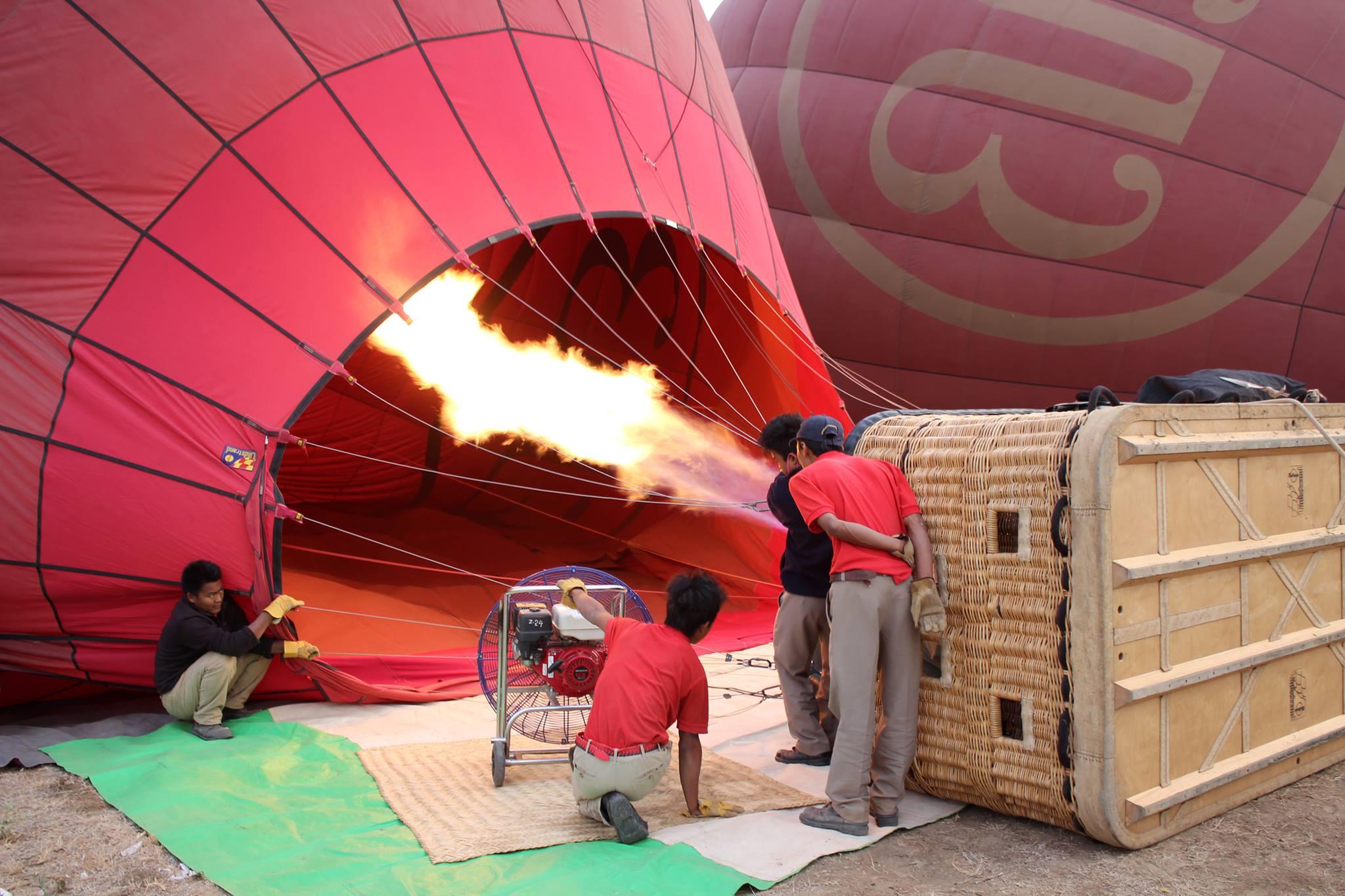 Préparation du balon